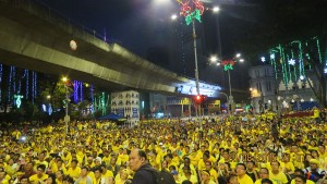 A scene from Bersih 4.0, the anti-Najib Razak rally sparked in large part by the 1MDB Scandal. Photo Credit:  Apa masalah via Wikipedia
