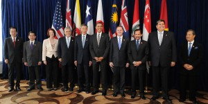 Leaders of the 12 member states of the Trans-Pacific Strategic Economic Partnership Agreement (TPP) pose for a picture at a summit. Photo Credit: Wikimedia Commons