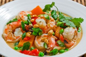 Penang Curried Pumpkin and Prawn Soup sure is delicious, but the shrimp in it may come from environmentally harmful local farms. Photo Credit: Closet Cooking