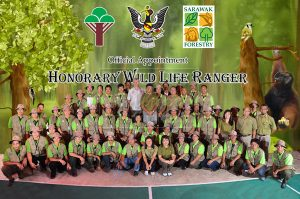 A group of honorary wildlife rangers poses for a photograph in Sarawak. Photo Credit: Sarawak Forestry Corporation