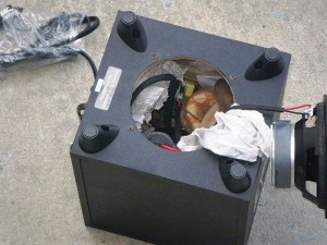 Endangered snakes are found packed into a speaker by a wildlife smuggler. Photo Credit: Wikimedia Commons