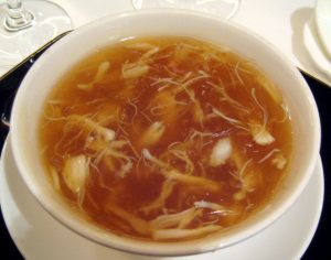Shark fin soup may look like an innocuous dish but there is a cruel practice behind it. Photo Credit: Wikimedia Commons