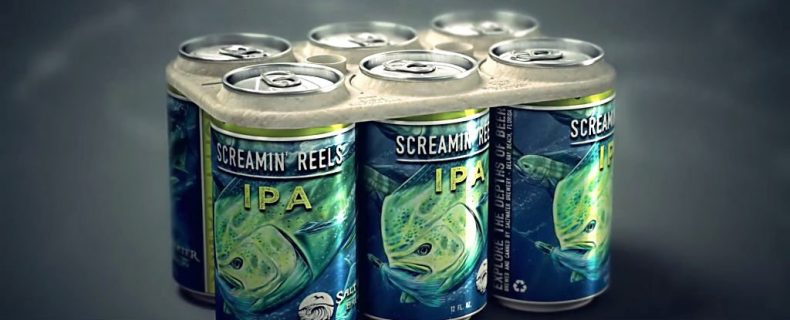 US Brewery creates Edible Can Holders to save Sea Creatures