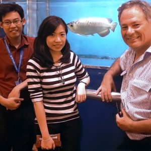 Prof. Chris Austin with members of his team at Monash University Malaysia. Photo Credit: Monash University Malaysia