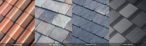 Tesla's aesthetically pleasing new solar roof tiles will come in four distinct designs. Photo Credit: Tesla