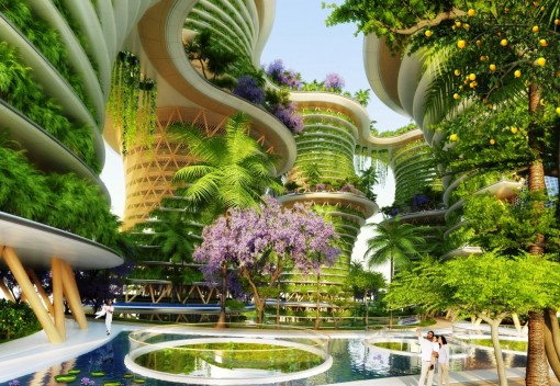 Vertical Urban Village envisions Green Living in Style