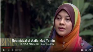 Rosmidzatul Azila, from the Institute of Islamic Understanding Malaysia, explains in the short film why Muslims must not kill protected wildlife. Photo Credit: Novista Sdn Bhd via YouTube