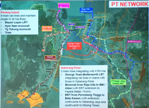 The Transport Master Plan envisions a complex new system but has come in for criticism from local NGOs. Photo Credit: penang.wikia.com