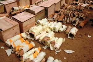 A shipment of African ivory, which was on its way to Malaysia, has been seized in Juba, the capital of South Sudan. Photo Credit: