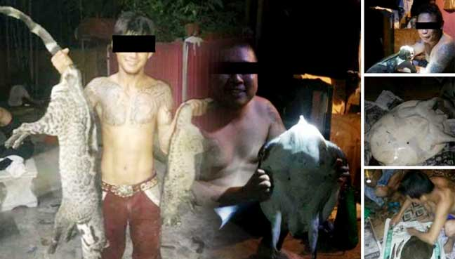 Poachers in Sarawak boast about their Kills on Facebook. For Shame