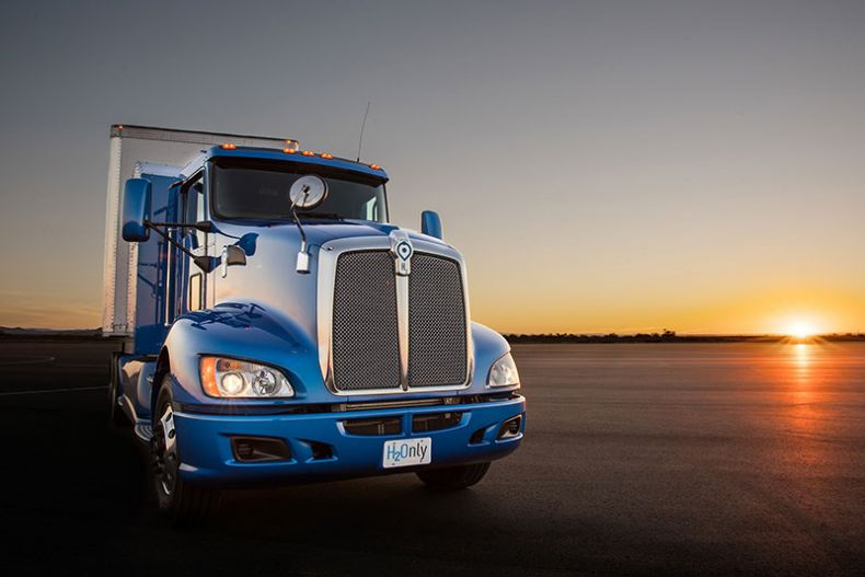 A Hydrogen Fuel-Powered Truck hits the Road, emitting only Water Vapor